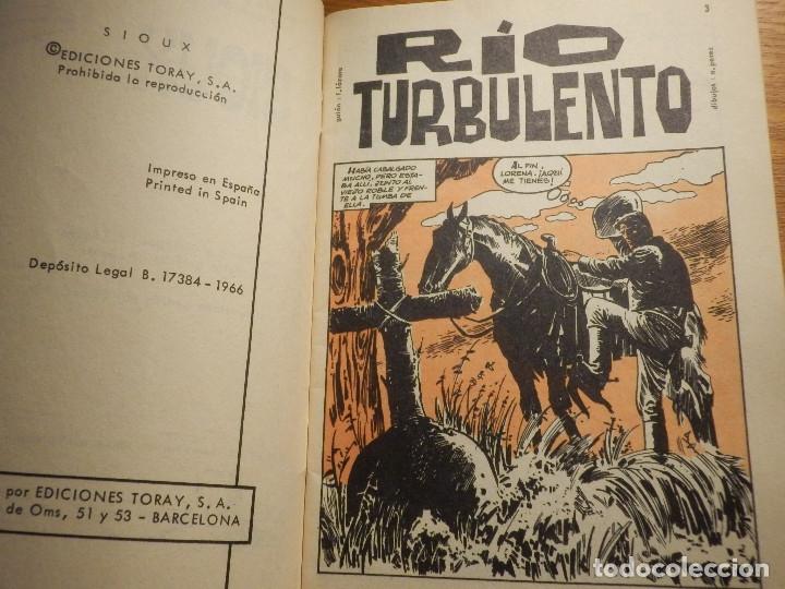 Tebeos: Tebeo - Comic - Novela Gráfica - Sioux - Nº 56 - Rio Turbulento - Toray 1966 - Foto 3 - 182647083