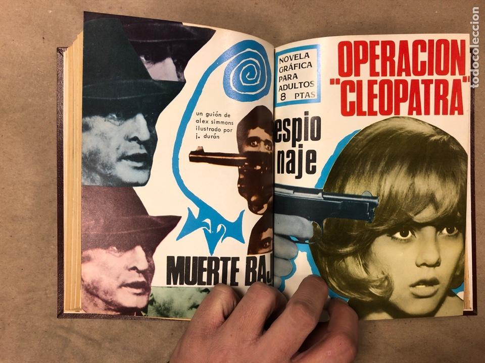Tebeos: LOTE DE 7 NÚMEROS COLECCIÓN ESPIONAJE ENCUADERNADOS. EDICIONES TORAY 1966/67. - Foto 10 - 182780375
