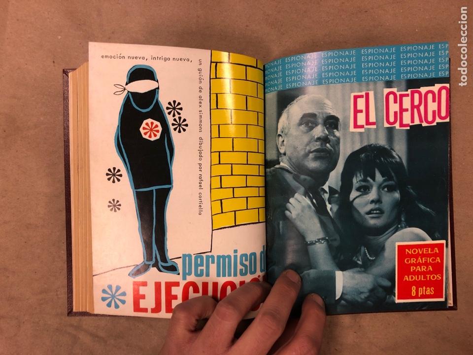 Tebeos: LOTE DE 7 NÚMEROS COLECCIÓN ESPIONAJE ENCUADERNADOS. EDICIONES TORAY 1966/67. - Foto 12 - 182780375