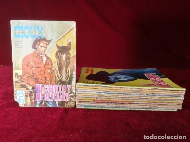 LOTE DE 14 NÚMEROS SIOUX TORAY NUMEROS 5, 21, 23, 36, 43, 62, 129, 145, 157, 159, 160, 161, 176, 181 (Tebeos y Comics - Toray - Sioux)