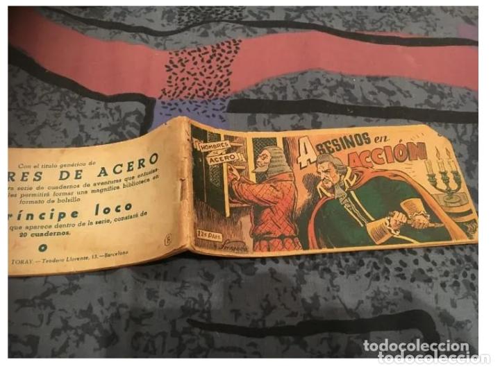 HOMBRES DE ACERO Nº8 ASESINOS EN ACCION - EDICIONES TORAY 1951 -ORIGINAL UNA JOYA DE COLECCIOMISTAS (Tebeos y Comics - Toray - Otros)