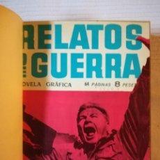 Tebeos: COLECCIÓN RELATOS DE GUERRA, 12 NÚMEROS EN UN TOMO -TORAY 1962. Lote 183598348