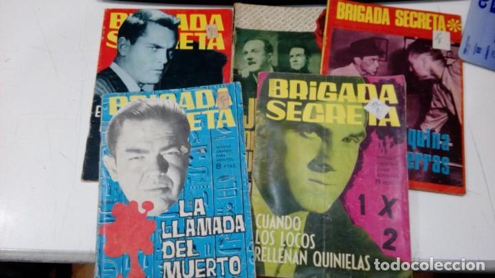 OFERTA - LOTE DE 5 Nº DE BRIGADA SECRETA - Nº 32, 78, 97, 155 Y 190 - EDICIONES TORAY AÑOS 60 (Tebeos y Comics - Toray - Brigada Secreta)