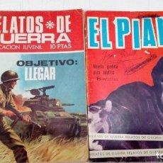 Tebeos: OFERTA - LOTE DE 2 Nº DE LA COLECCION RELATOS DE GUERRA - Nº 89 Y 207 - EDICIONES TORAY AÑOS 60. Lote 183763132