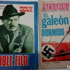 Tebeos: OFERTA - LOTE 2 Nº DE TORAY - COL. DOBLE FILO Nº 79 SIOUX Y COL. AVENTURAS Nº 46 EL GALEON DORMIDO. Lote 183763281