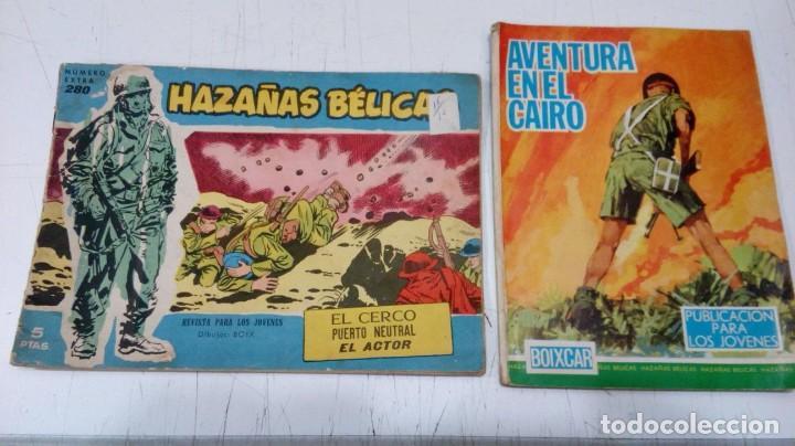 OFERTA - LOTE 2 Nº DE TORAY - HAZAÑAS BELICAS Nº 280 Y HAZAÑAS BELICAS BOIXCAR 90 AVENTURA EN CAIRO (Tebeos y Comics - Toray - Hazañas Bélicas)