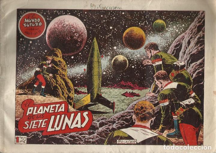 ORIGINAL EL MUNDO FUTURO AÑO 1 Nº 12 EL PLANETA DE LAS 7 LUNAS (Tebeos y Comics - Toray - Mundo Futuro)