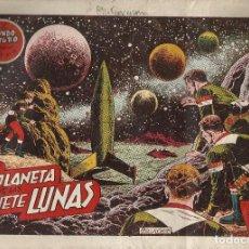 Tebeos: ORIGINAL EL MUNDO FUTURO AÑO 1 Nº 12 EL PLANETA DE LAS 7 LUNAS. Lote 184416031