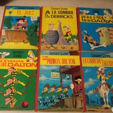 Tebeos: LOTE DE 6 COMICS LUCKY LUKE TAPA DURA AÑOS 60. Lote 187083262