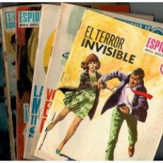 Tebeos: ESPIONAJE - TORAY,1965 - LOTE DE 16 NÚMEROS,ENTRE EL 4 Y 70. LEER. Lote 187221166