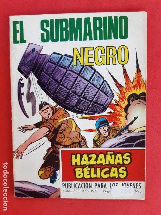 HAZÁÑAS BÉLICAS Nº 308-TORAY-1970 (Tebeos y Comics - Toray - Hazañas Bélicas)