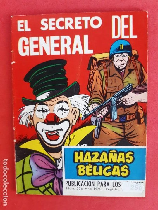 HAZÁÑAS BÉLICAS Nº 306 TORAY 1970 (Tebeos y Comics - Toray - Hazañas Bélicas)