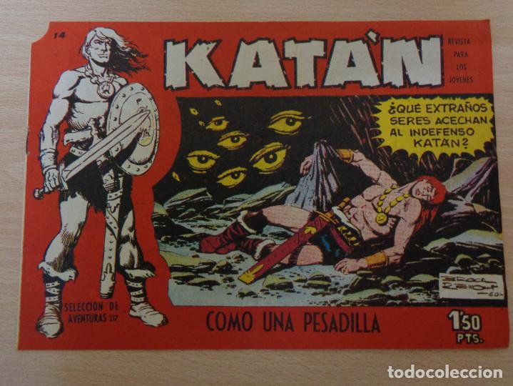 KATÁN NÚM. 14. COMO UNA PESADILLA. ORIGINAL. EDITA TORAY 1958. MUY BUEN ESTADO (Tebeos y Comics - Toray - Katan)