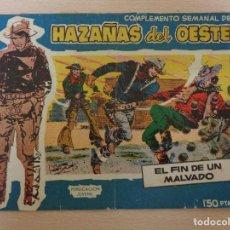 Tebeos: COMPLEMENTO SEMANAL HAZAÑAS DEL OESTE NÚM. 1. ORIGINAL. EDITA TORAY.. Lote 188756717