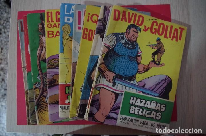 LOTE DE 10 HAZAÑAS BELICAS EDICIONES TORAY 1969 ,1970 , 1971 HAY FOTOS DE TODOS CON SUS NUMEROS (Tebeos y Comics - Toray - Hazañas Bélicas)