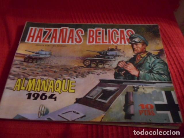 TORAY - HAZAÑAS BELICAS ALMANAQUE AÑO 1964 (Tebeos y Comics - Toray - Hazañas Bélicas)