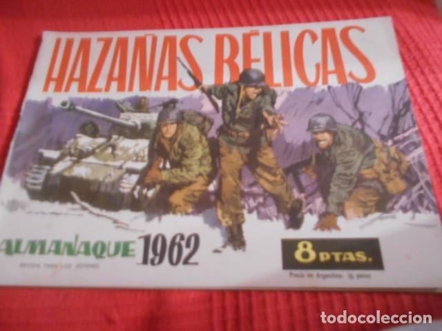 TORAY - HAZAÑAS BELICAS ALMANAQUE AÑO 1962 (Tebeos y Comics - Toray - Hazañas Bélicas)