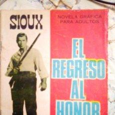 Tebeos: SIOUX- Nº 80 -EL REGRESO AL HONOR-GRAN JOSÉ DUARTE-1967-BUENO-MUY DIFÍCIL-LEAN- 2923. Lote 191375137