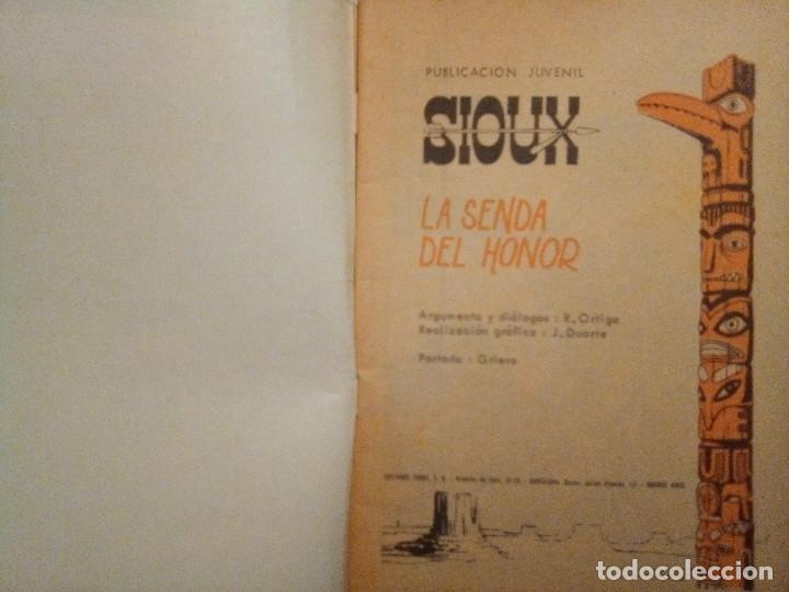 Tebeos: SIOUX- Nº 107 -LA SENDA DEL HONOR-GRAN JOSÉ DUARTE-1968-MUY BUENO-MUY DIFÍCIL-ÚNICO EN TC-LEAN- 2924 - Foto 3 - 191375995