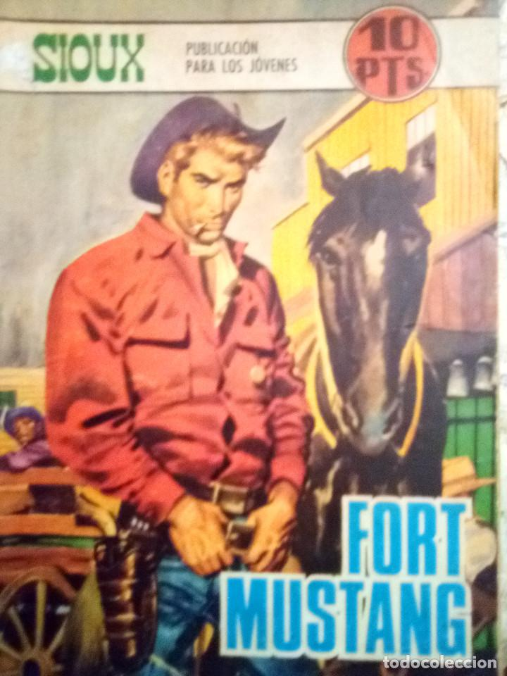 SIOUX- Nº 110 -FORT MUSTANG-GRAN JOSÉ DUARTE-1968-MUY BUENO-MUY DIFÍCIL-LEAN- 2925 (Tebeos y Comics - Toray - Sioux)