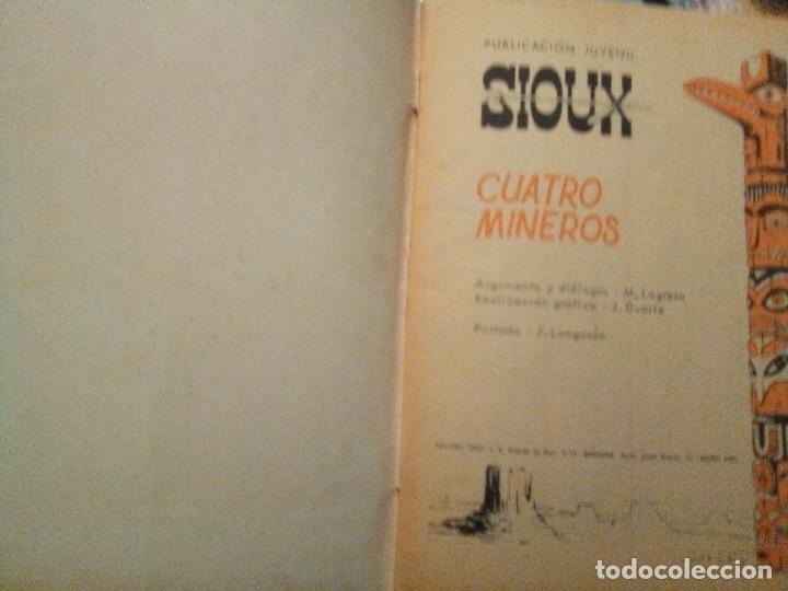 Tebeos: SIOUX- Nº 129 -CUATRO MINEROS-GRAN JOSÉ DUARTE-1969-MUY BUENO-MUY DIFÍCIL-ÚNICO EN TC-LEAN- 2926 - Foto 3 - 191377726