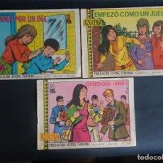 Tebeos: LOTE DE 3 TEBEOS REVISTA JUVENIL FEMENINA AZUCENA , 1053 -1062 -1064 , VER FOTOS. Lote 191438391