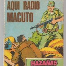 Tebeos: HAZAÑAS BÉLICAS. Nº 310. AQUÍ RADIO MACUTO. NOVELA GRÁFICA. EDICIONES TORAY. (P/C59). Lote 191899686