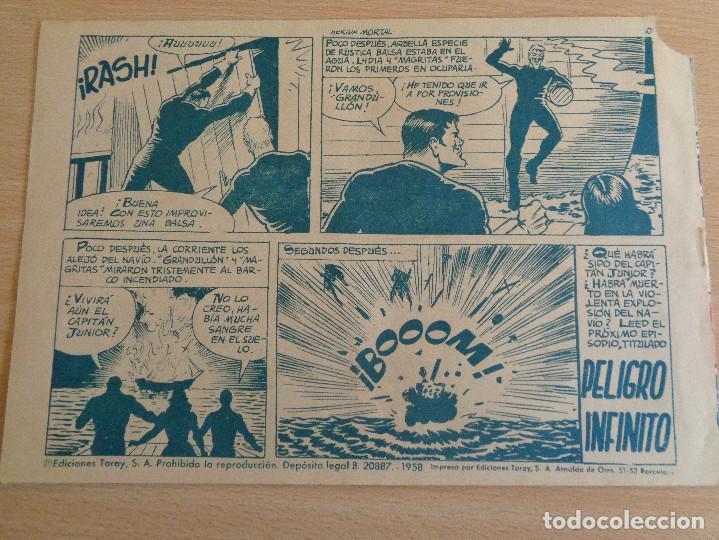 Tebeos: El Hijo del Capitán Coraje Nº 42. Herida Mortal. Original. Edita Toray 1958 - Foto 2 - 191923413