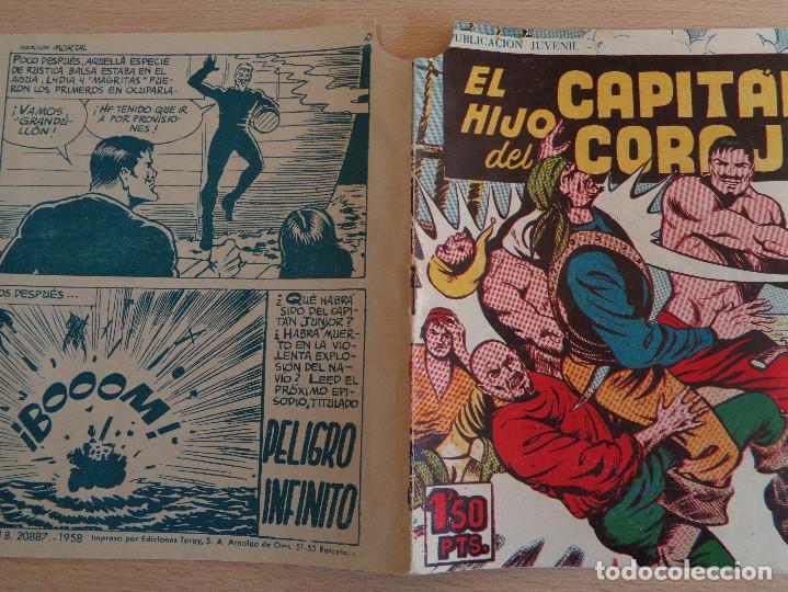 Tebeos: El Hijo del Capitán Coraje Nº 42. Herida Mortal. Original. Edita Toray 1958 - Foto 3 - 191923413