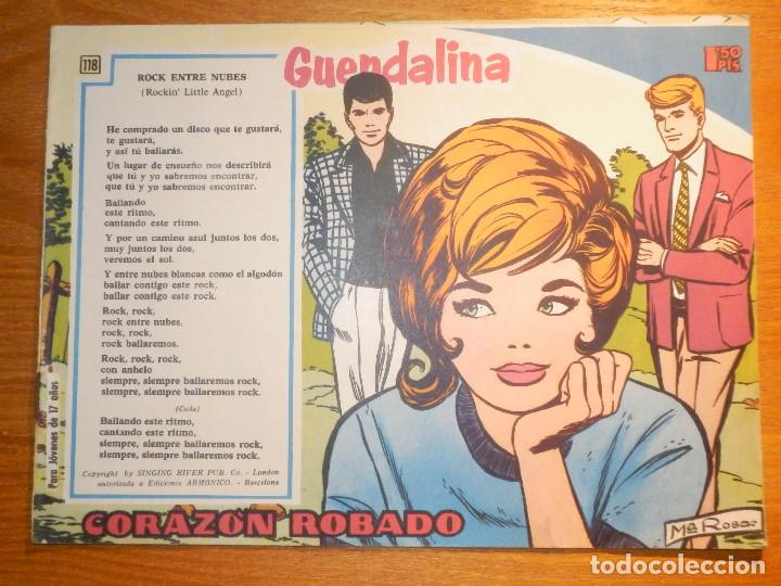 TEBEO - COMIC - COLECCIÓN GUENDALINA - Nº 118 - CORAZÓN ROBADO - TORAY (Tebeos y Comics - Toray - Guendalina)