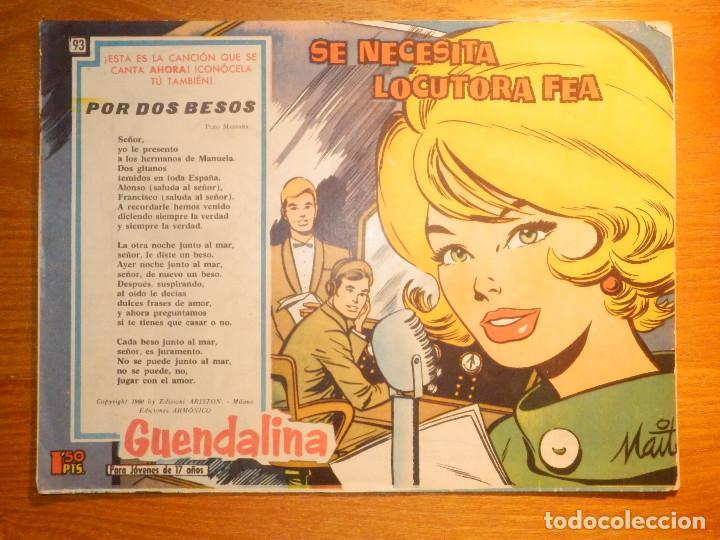 TEBEO - COMIC - COLECCIÓN GUENDALINA - Nº 93 - SE NECESITA LOCUTORA FEA - TORAY (Tebeos y Comics - Toray - Guendalina)