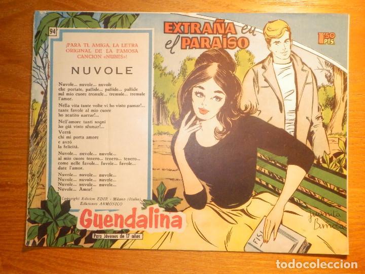 TEBEO - COMIC - COLECCIÓN GUENDALINA - Nº 94 - EXTRAÑA EN EL PARAISO - TORAY (Tebeos y Comics - Toray - Guendalina)