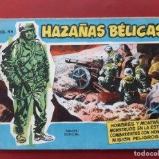 Tebeos: HAZAÑAS BÉLICAS VOLUMEN Nº 44 TORAY 1958 ORIGINAL EXCELENTE ESTADO. Lote 192144442