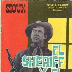Tebeos: SIOUX - Nº 64 -EL SHERIFF Y EL PISTOLERO -1966-GRAN LUIS CASTELLÓ-CASI BUENO-ÚNICO EN TC-LEAN-3029. Lote 193018291