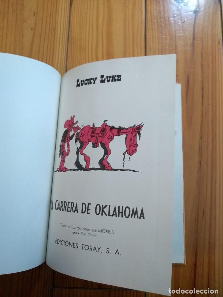 Tebeos: Lucky Luke: La Carrera de Oklahoma - 2ª Edición 1969 - D5 - Buen estado! - Foto 9 - 193258371