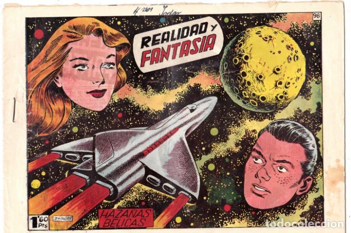 HAZAÑAS BELICAS (1950, TORAY) -2ª- 98 · 12-III-1954 · REALIDAD Y FANTASIA (Tebeos y Comics - Toray - Hazañas Bélicas)