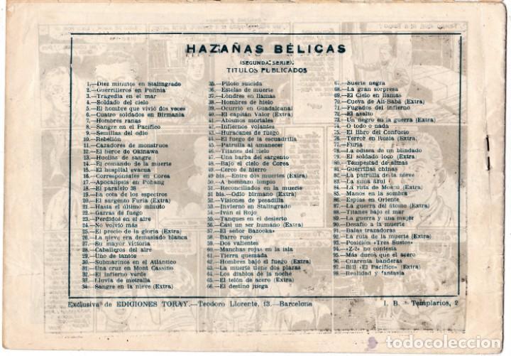Tebeos: HAZAÑAS BELICAS (1950, TORAY) -2ª- 98 · 12-III-1954 · REALIDAD Y FANTASIA - Foto 2 - 193772285