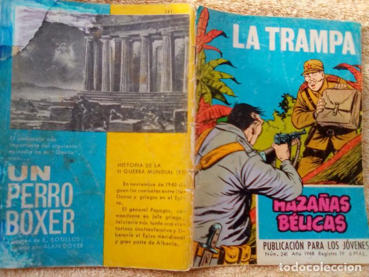 Tebeos: HAZAÑAS BÉLICAS- GORILA- Nº 241 -LA TRAMPA-GRAN ALAN DOYER-1967-ESCASO-DIFÍCIL-CORRECTO-LEAN-3085 - Foto 2 - 194227438