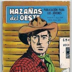Tebeos: HAZAÑAS DEL OESTE, 239: LOS CUERVOS RÍEN | EL PIANISTA - TORAY, 1971. Lote 194254826