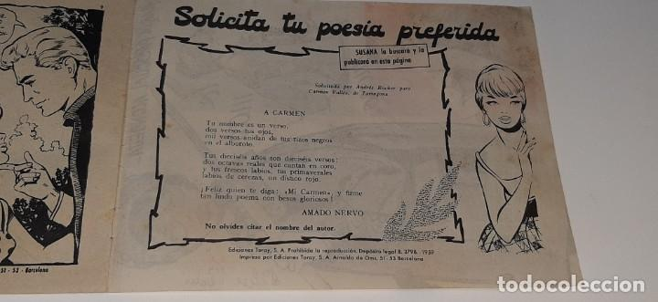 Tebeos: ANTIGUO COMIC COLECCION SUSANA Nº 96 - TU SONETO - ED. TORAY AÑO 1959 MARIA PASCUAL - Foto 5 - 194370021
