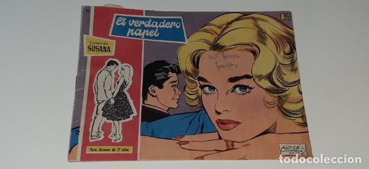 ANTIGUO COMIC COLECCION SUSANA Nº 25 - EL VERDADERO PAPEL - ED. TORAY AÑO 1959 (Tebeos y Comics - Toray - Susana)
