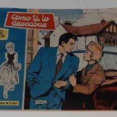 Tebeos: ANTIGUO COMIC COLECCION ROSAS BLANCAS Nº 74 - COMO TU LO DESEABAS - ED. TORAY AÑO 1959. Lote 194573805