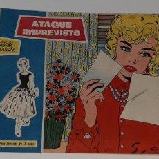 Tebeos: ANTIGUO COMIC COLECCION ROSAS BLANCAS Nº 128 - ATAQUE IMPREVISTO - ED. TORAY AÑO 1959. Lote 194574281