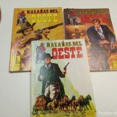 Tebeos: HAZAÑAS DEL OESTE / COMPLETA 12 NÚMEROS EN 3 RETAPADOS / EDICIONES G4. Lote 194778266