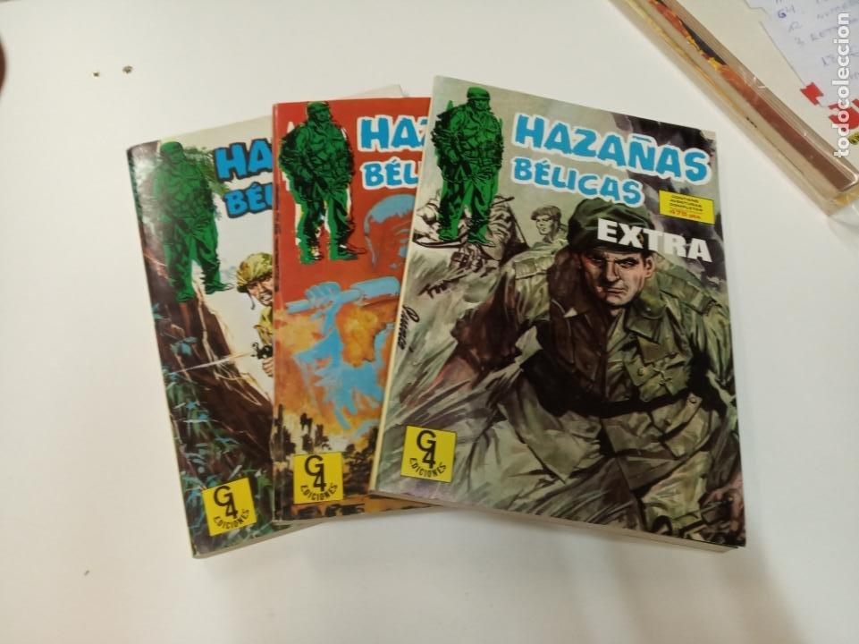 HAZAÑAS BÉLICAS / 9 NÚMEROS EN 3 RETAPADOS / EDICIONES G4 (Tebeos y Comics - Toray - Hazañas Bélicas)