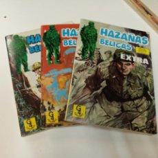 Tebeos: HAZAÑAS BÉLICAS / 9 NÚMEROS EN 3 RETAPADOS / EDICIONES G4. Lote 194778713