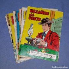 Tebeos: 12 REVISTAS JUVENILES HAZAÑAS DEL OESTE ORIGINALES AÑOS 60 Y 70 EDICIONES TORAY. Lote 195105677