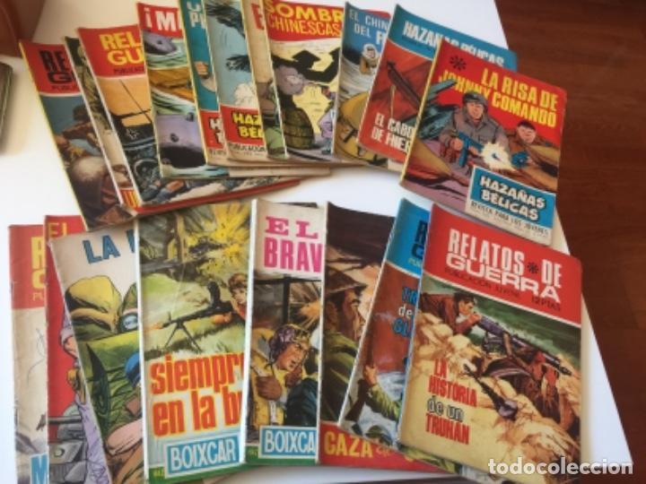 19 TEBEOS COMICS HAZAÑAS BÉLICAS, RELATOS DE GUERRA , ETC AÑOS 70 (Tebeos y Comics - Toray - Hazañas Bélicas)