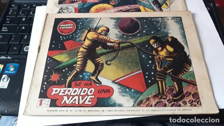 Tebeos: LOTE DE 2 COMICS MUNDO FUTURO, 51 SE HA PERDIDO UNA NAVE- 59 LA FUERZA DEL DEBIL, ORIGINAL TORAY - Foto 2 - 195299022