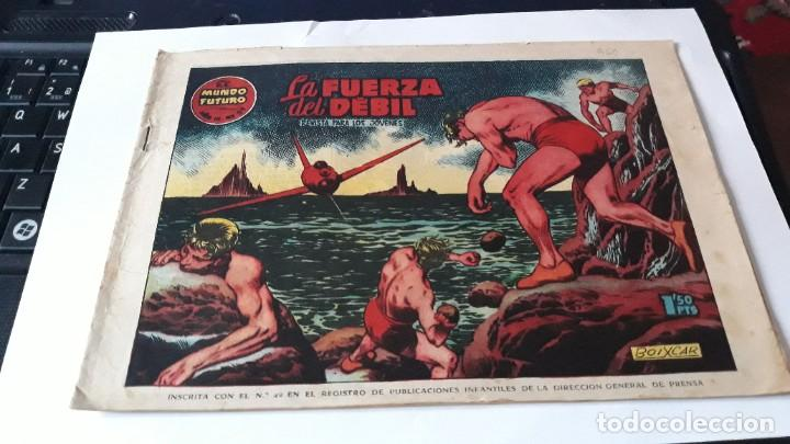 Tebeos: LOTE DE 2 COMICS MUNDO FUTURO, 51 SE HA PERDIDO UNA NAVE- 59 LA FUERZA DEL DEBIL, ORIGINAL TORAY - Foto 3 - 195299022